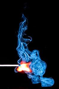 smoke from lighted match stick