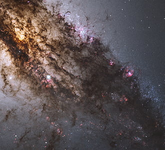 black and pink galaxy