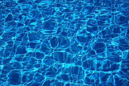 rippling blue water