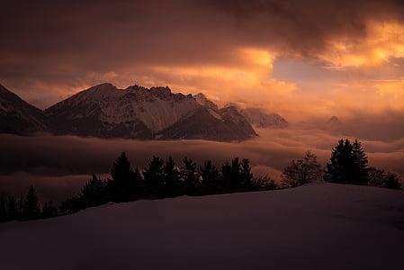 brown mountain in golden hours