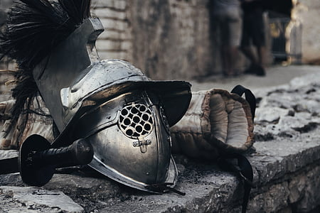 photo of gladiator helmet