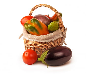 photograph of assorted vegetable on basket
