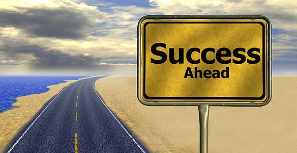 Success Ahead signage