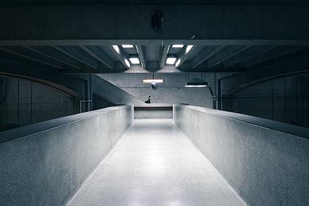 concrete pavement hall