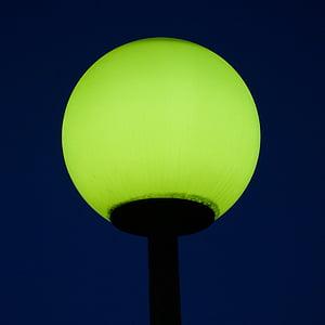 green light post turned-on