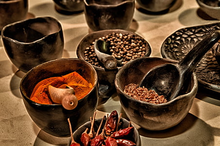 aerial photo og assorted spices