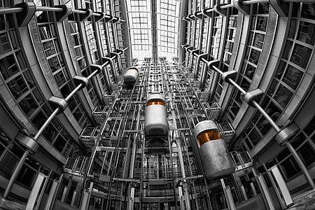 gray metal elevators