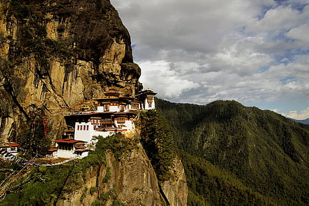 photography of landmark on mountain
