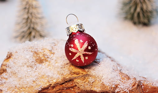 photo of red Christmas bauble