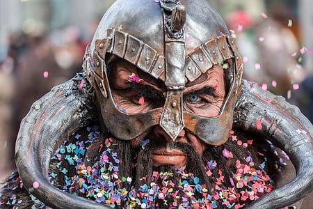 gray steel viking helmet