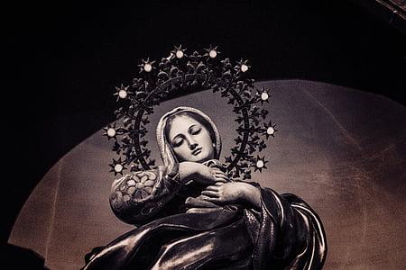 Virgin Mary illustration