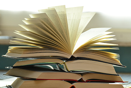 photo of stack of hardbound books