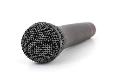 gray wireless microphone