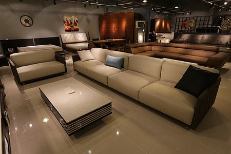 brown leather 2-piece sofa set