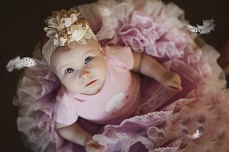 baby in pink tutu dress