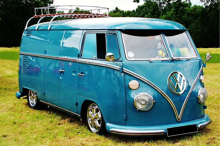 white Volkswagen van