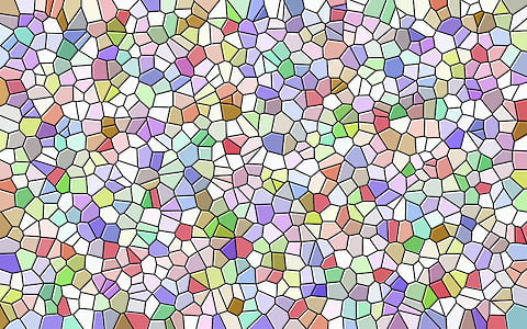 multicolored stained glass surface