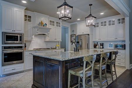 white and black kitchen room furniture set