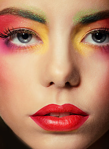 woman's face with make-ups