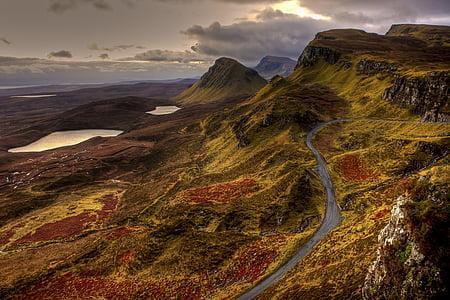 bird's eye-view photo of green mountain range