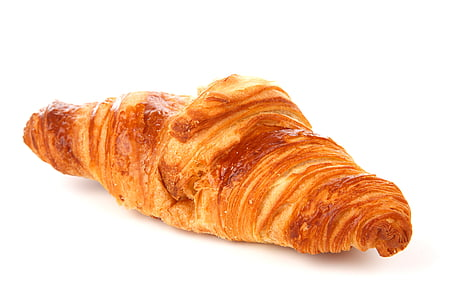 brown pastry on white background