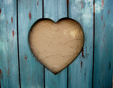 brown heart-themed wall decor