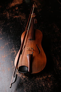 brown wooden violin