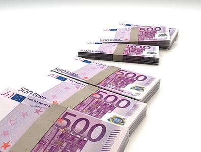 500 Euro banknote bundle