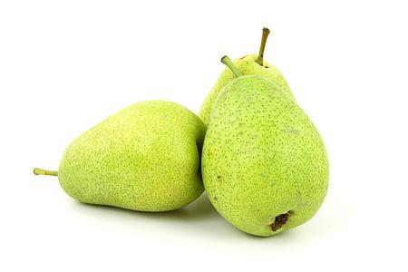 three green peaches