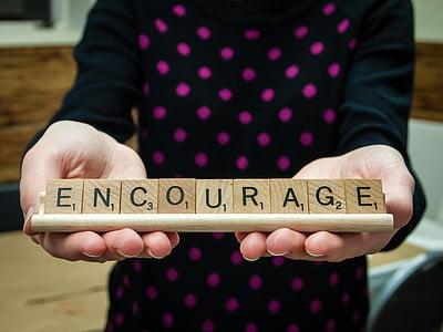Encourage scrabble pieces