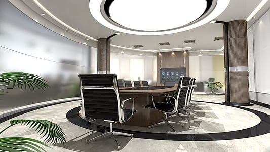 office armchairs inside room