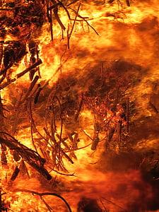 burning wood digital wallpaper