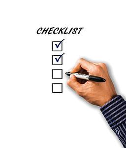 Checklist check box