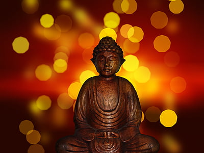 bokeh photography of Gautama Buddha