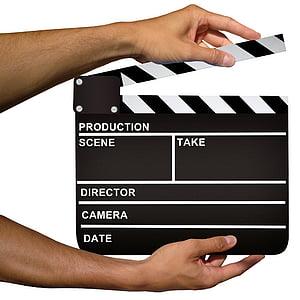 black film clapper board