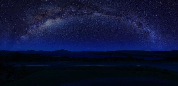 milky way galaxy showing at dark sky
