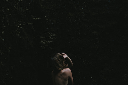 photo of topless woman