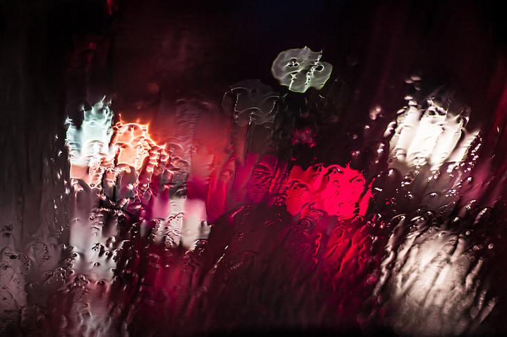 wet glass window