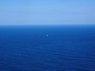 white boat in the middle of sea