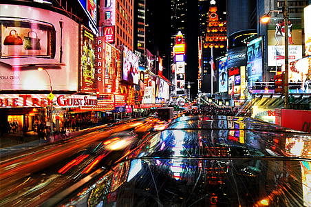 New York Time Square during night timne