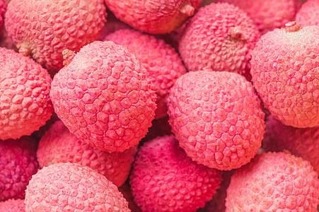 round pink fruit lot