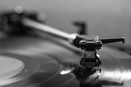shallow focus of turntable