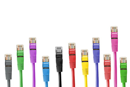 assorted-color Ethernet cables
