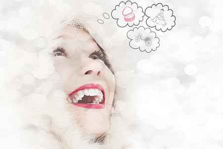 bokeh photography of smiling woman