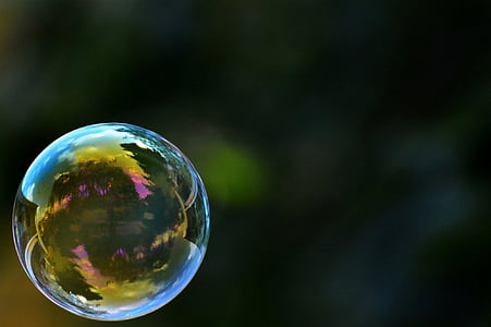 close up photo of bubble