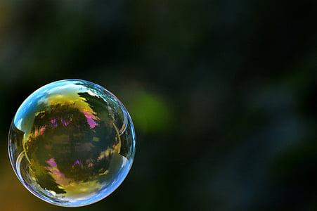 close up photo of bubble