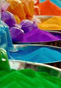 closeup photo of assorted-color powder lot