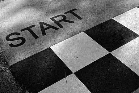 starting line road paint