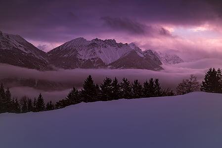 white and black snow mountain