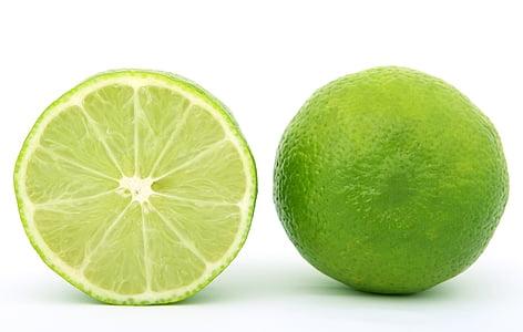 sliced green lemon